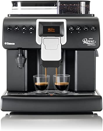 Saeco Royal Gran Crema Independiente Totalmente automática - Cafetera (Independiente, Cafetera de filtro, 2,2 L, Molinillo integrado, 1850 W, Negro, Plata): Amazon.es: Hogar