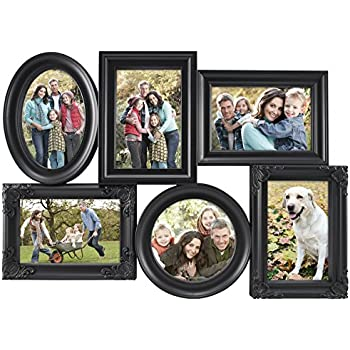 Amazon.com - MCS 6 Openings Multi-Shaped Collage Frame with 5-4x6 ...