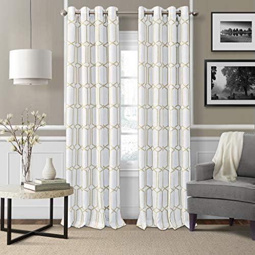 Elrene Home Fashions Kaiden Geometric Room Darkening Window Curtain Panel