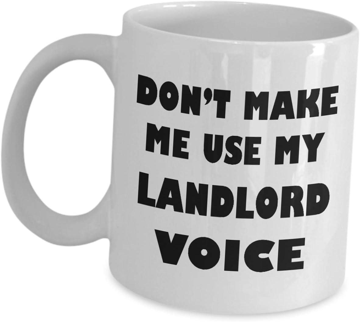 Don/'t make me use my Landlord Voice 10oz funny Mug 041