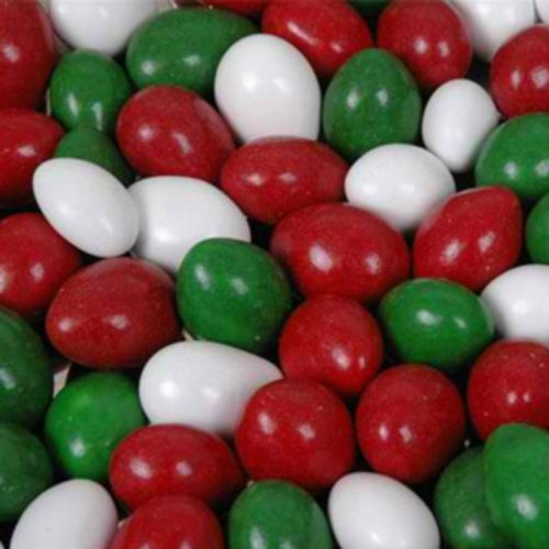 Christmas Mix Chocolate Covered Jordan Almonds 1lb Bag