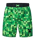 Mojang Minecraft Big Boys Swim Trunk,Green, Black,M (8/10)