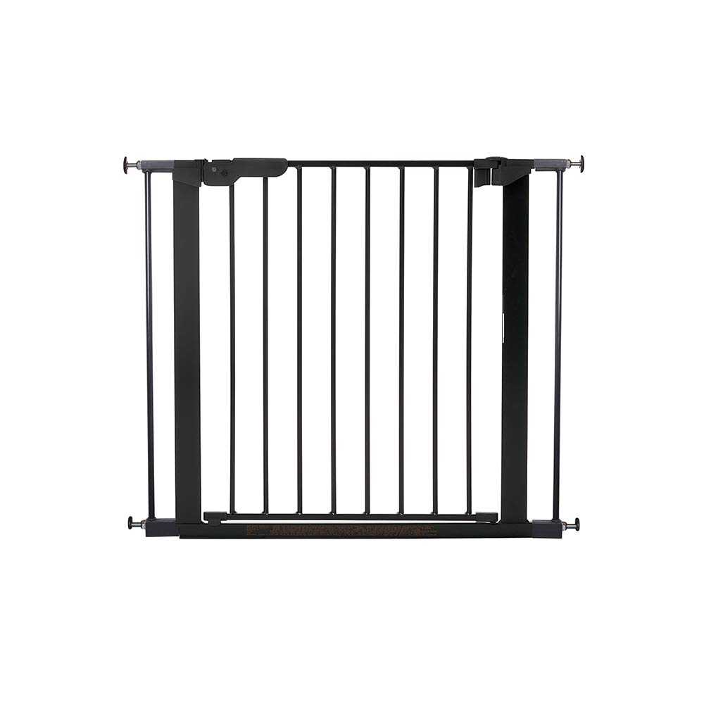 Black Baby Dan Safety Gate Extension with Door 28 x 4