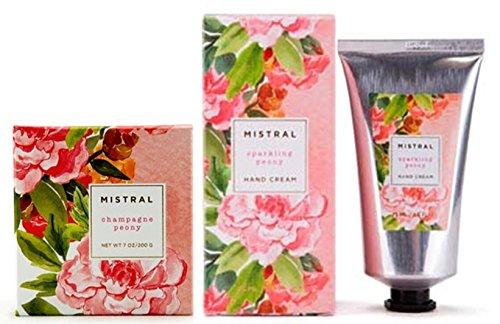 Mistral Soap & Hand Cream set, Sparkling Peony (Cream Peony Hand)