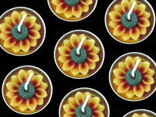 Relax spa shop® sun flower tealight candles, Floating Candles, Scented Tea Lights, Aromatherapy Relax (Pack of 10 Pcs.)