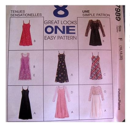 Amazon com: McCalls Sewing Pattern 7989 Misses 6,8,10
