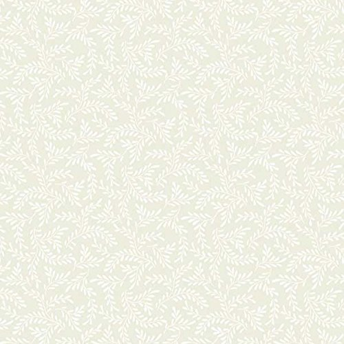 Wilmington Prints 0423808 Essentials Cookie Dough Sprigs Fabric by The Yard, Cream