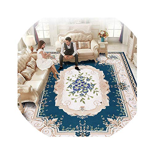 European Style Soft Carpet Bedroom Living Room Floor Home Doormats Collapsed Meters Machine Washable Hand-Washing Rug Big Mat,MJ0019,140CM 200CM