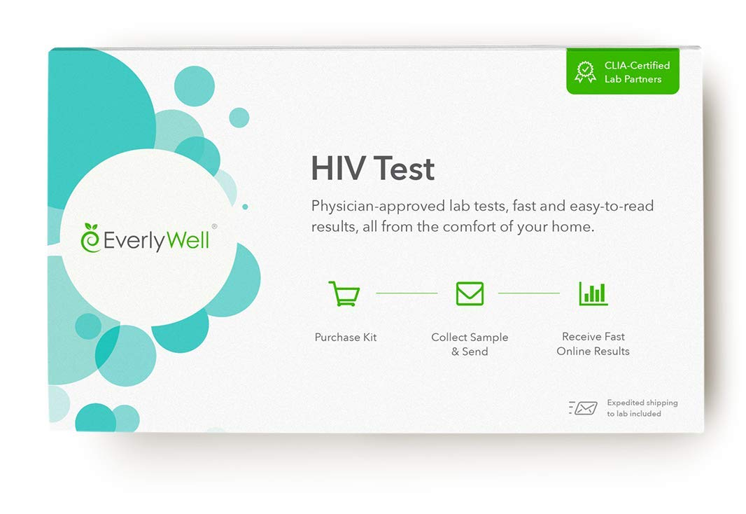 EverlyWell - at-Home HIV Test - Discreetly Test for HIV (Not Available in MD, NY, NJ, RI) by Everly Well