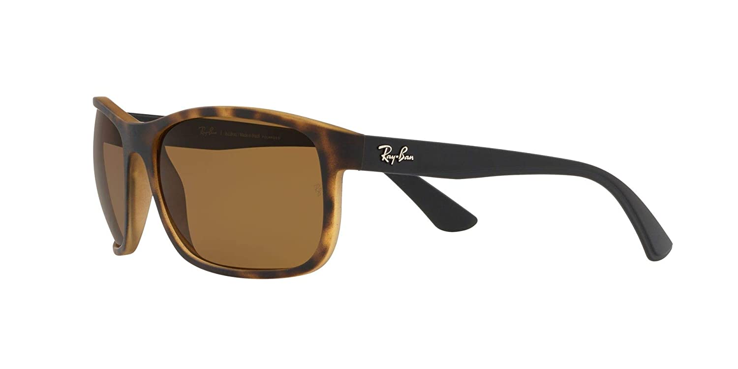 Amazon.com: Ray-Ban RB4301L Polarized Sunglasses, Matte Havana ...
