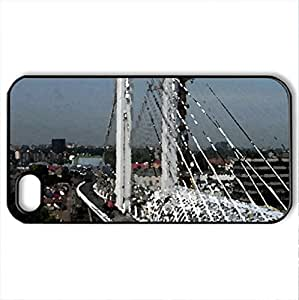 Basarab bridge-Bucharest(4) - Case Cover for iPhone 4 and 4s (Bridges Series, Watercolor style, Black) by icecream design
