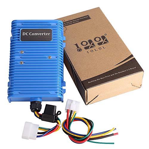 10L0L Golf Cart Voltage Reducer Voltage Converter 30 Amp (36v/48v to 12v) with Dual Power Source Fits on Club Car E-Z-GO 360 Watt