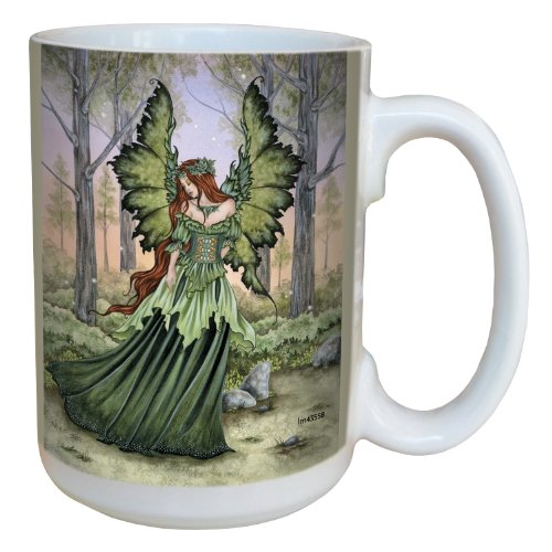 Fantasy Lady of The Forest Fairy Coffee Mug - Large 15-Ounce Ceramic Cup- Amy Brown - Fairies Theme - Fairy Lovers Gift - Tree-Free Greetings lm43558