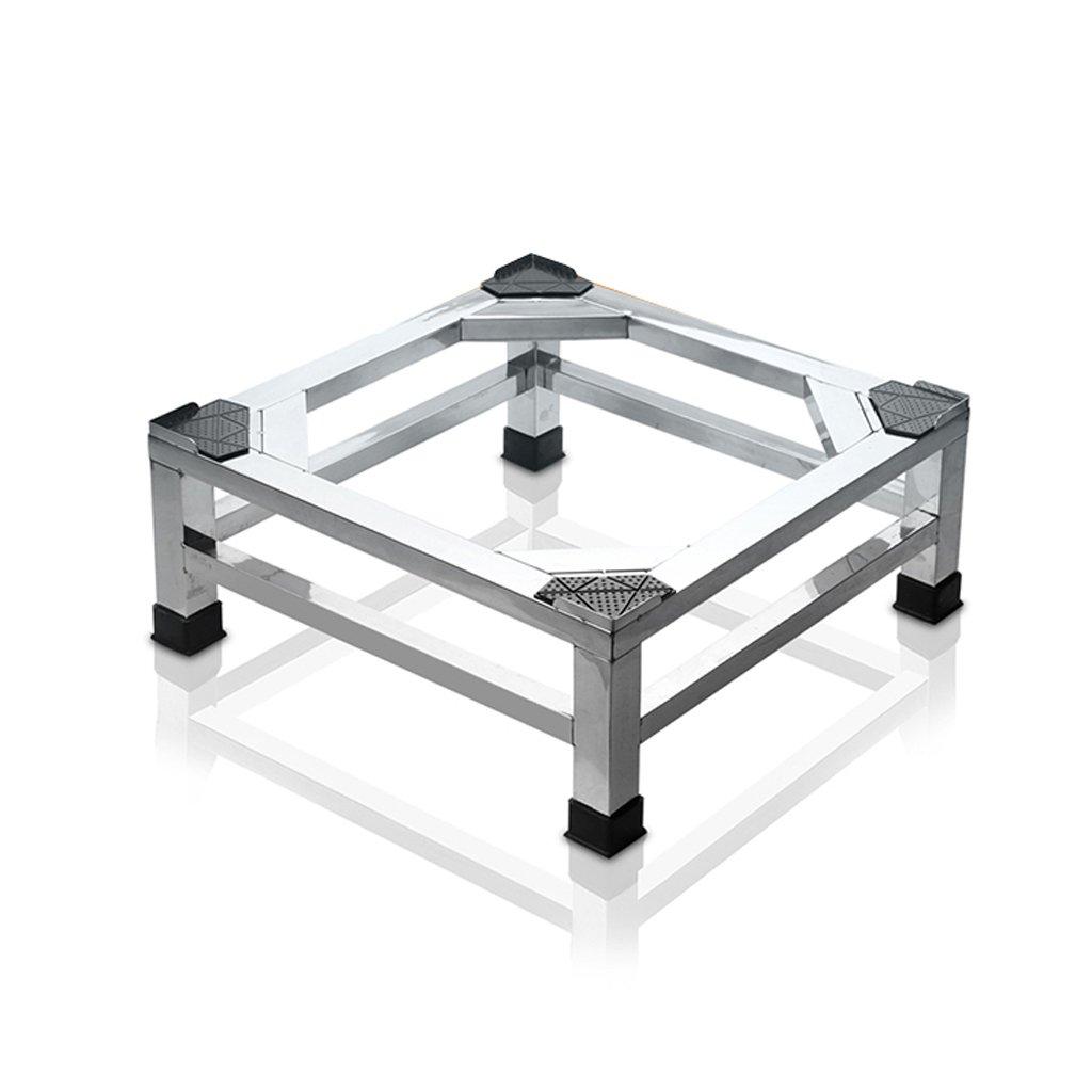 304 Stainless Steel Washing Machine Base Heightening Bracket Fridge Stand -Casters (Size : 565630cm)