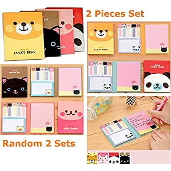 amazon com onor tech lovely cute cartoon post it note bookmarker