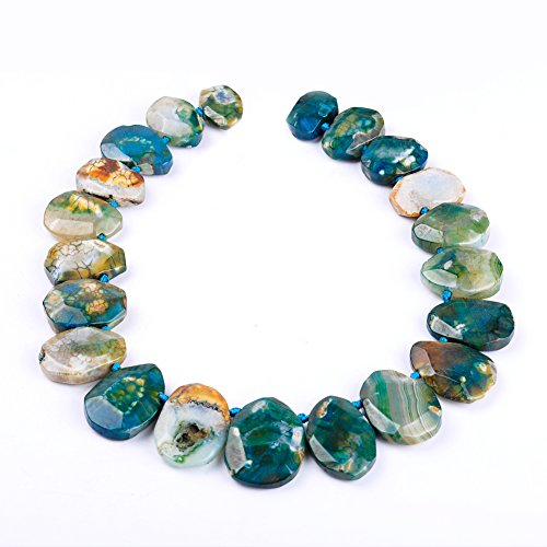 Semi-precious Waterdrop Faceted Agate Pendant Natural Agate Stone Beads For Jewelry Making - Faceted Stone Pendant
