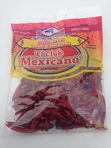 Whole Chile De Arbol, 3 Ounce 1pack Arbol Dried Chile Chili Pepper