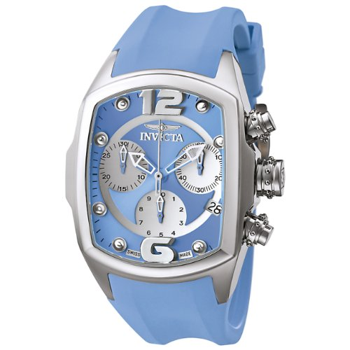Invicta Women's 6832 Lupah Revolution Collection Chronograph Blue Polyurethane Watch