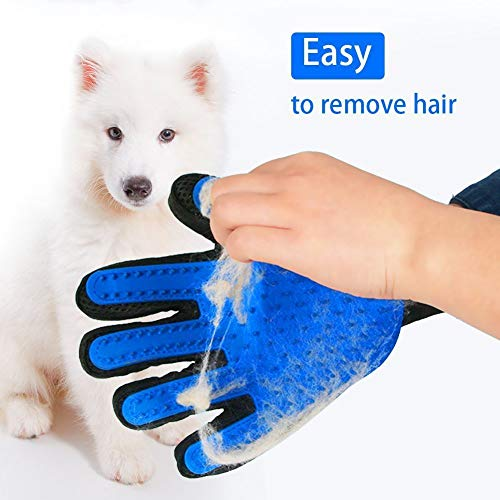 Pet Grooming Brush Glove for Dog & Cat Hair Cleaning, Right-Handed Hair Removal Glove Brush, with Adjustable Strap