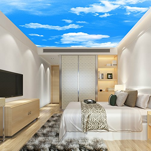 Stereo ceiling wallpaper living room dining room ceiling wallpaper sky wallpaper