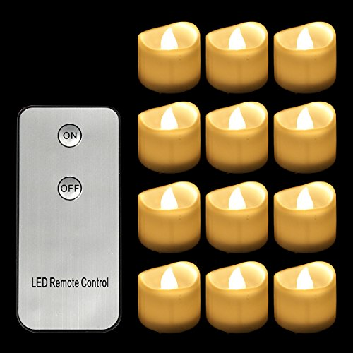 Horeset 12pcs Yellow Flickering LED with Remote Control  : 51Z4uzOiQrL from greenankles.com size 500 x 500 jpeg 36kB