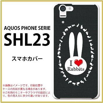amazon スマホカバー aquos phone serie shl23 au スマホケース うさぎ
