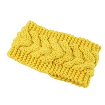 BaconiXfF Womens Winter Knitted Headband - Crochet Twist Hair Band Headwrap Hat  Cap Ear Warmer 9174f2a11a15