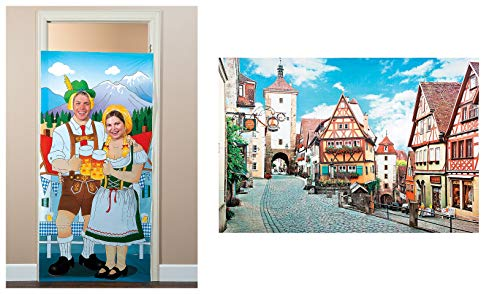 Oktoberfest Bavarian Backdrop And Photo Door Banner (2 -