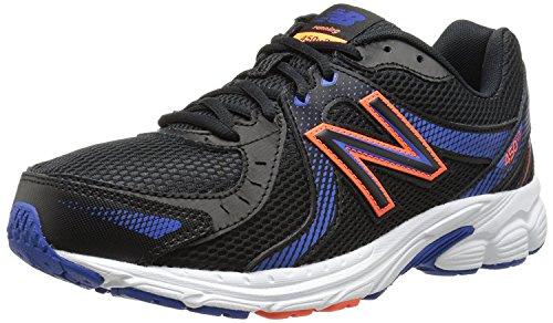 New Balance Mens M450v3 Running Shoe, Black/Blue/White, 43 EU/9 UK