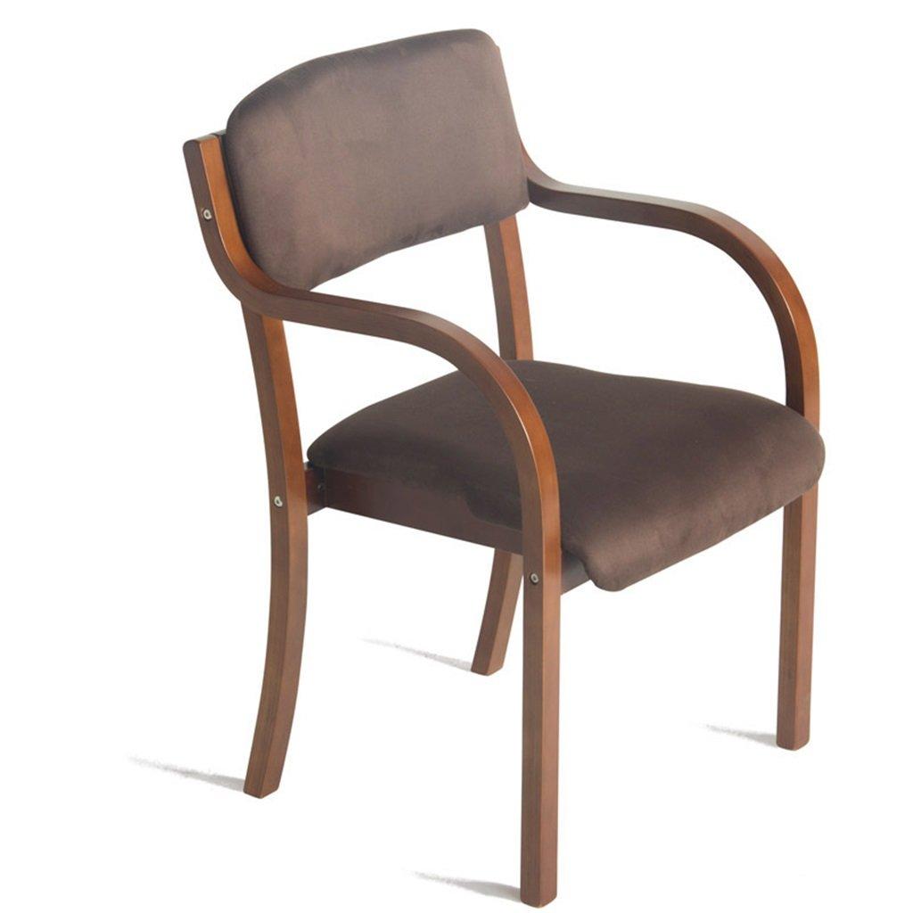 LH- BAR Silla de Madera Maciza de Haya con Respaldo y sillón ...