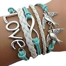 Changeshopping(TM)Handmade Adjustable Love Anchor Multilayer Bracelet