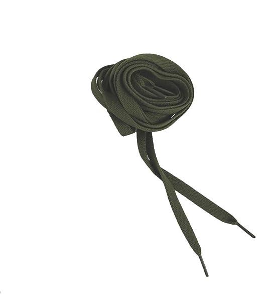 éS UNISEX Schnürsenkel grüne flache Schnürsenkel original von és#E407