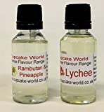 Rambutan/Pineapple and Lychee Intense Food Flavours (Two 28.5 ml bottles)