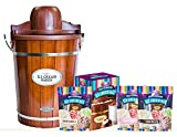 Nostalgia ICMP600WDBUN 6-Quart Electric Ice Cream Maker - Bonus Bundle