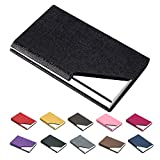 padike Business Name Card Holder Luxury PU Leather & Stainless Steel Multi Card Case,Business Name Card Holder Wallet Credit Card ID Case/Holder for Men & Women - Keep Your Business Cards Clean ??