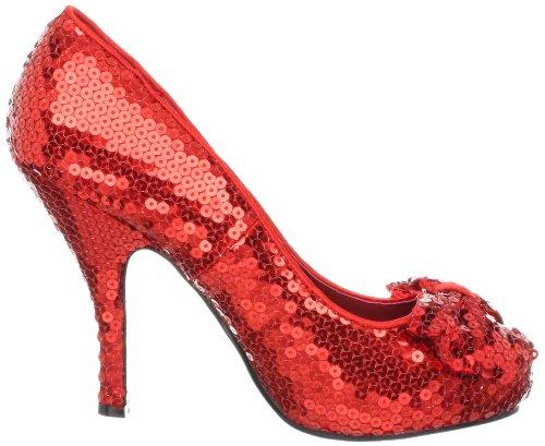 Funtasma - zapatos de tacón mujer Red Sequins