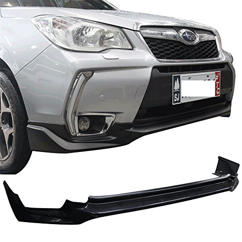 Acs Lip Front (Front Lip Fits 2014-2018 Subaru Forester XT | OE Style Unpainted Black ABS Plastic Air Dam Chin Front Lip Splitter Spoiler By IKON MOTORSPORTS | 2015 2016 2017)