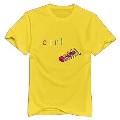 99ad1e85 Amazon.com: JoyRacka Custom Men's SZA-CTRL Music Fashion T-Shirts: Clothing
