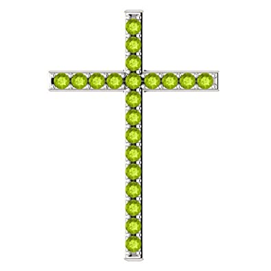 Amazon the grass witherth green peridot cross pendant in the grass witherth green peridot cross pendant in sterling silver mozeypictures Image collections