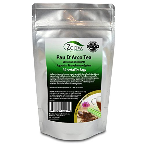 - Pau D'Arco Tea 100% Pure (30 Premium Bags) All-Natural Immune System Support