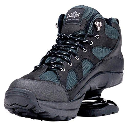 Z-coil Soulagement De La Douleur Chaussures Pour Hommes Outback Hiker Bottes Noires