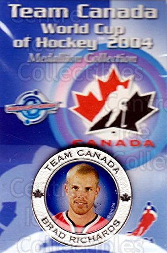 2004 World Cup Hockey - (CI) Brad Richards Hockey Card 2004 Team Canada World Cup Medallion 22 Brad Richards