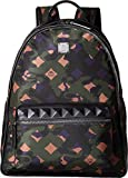 MCM Unisex Dieter Munich Lion Camo Nylon Medium Backpack Loden Green Backpack