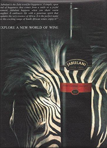Magazine PAPER AD For Jabulani Cabernet Wine: Zebra for sale  Delivered anywhere in USA