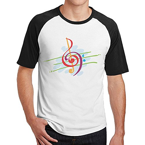 Double Happiness Raglan Great Colorful Music Tshirts Black L For Mens Or - Chattanooga Outlets