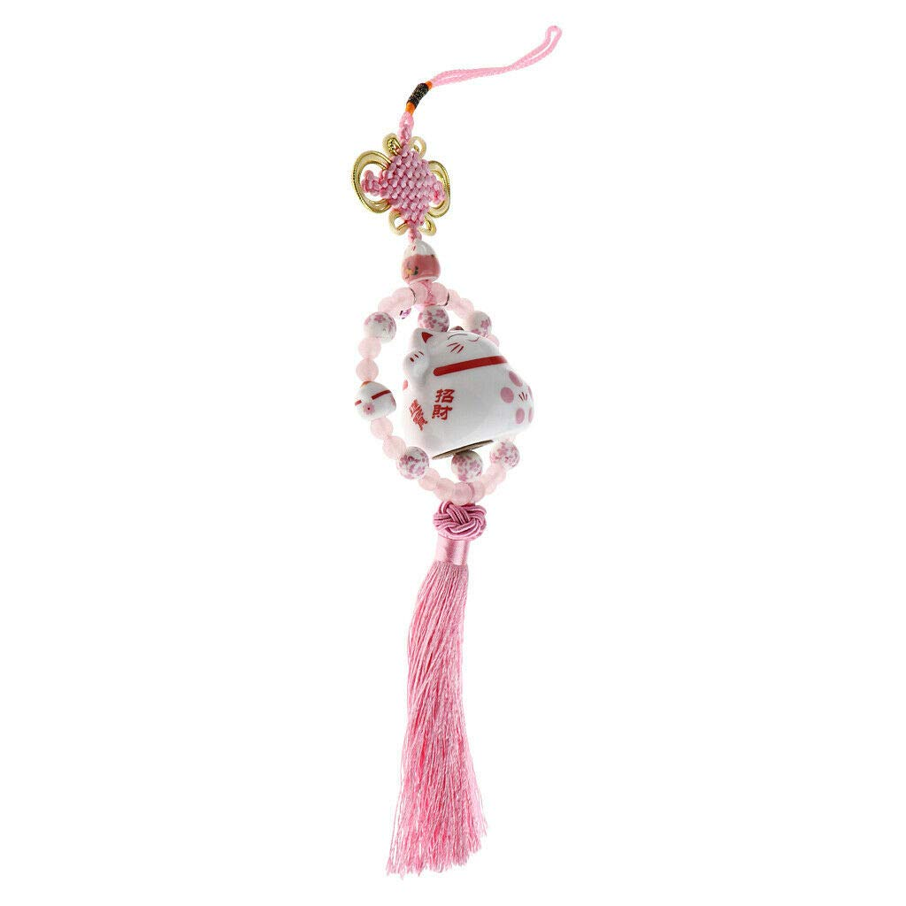 NATFUR Chinese Knot Tassel Charms Pendant Ornament for Car Keychain Hanging Decor Pretty Perfect for Gift Pretty Novelty Beautiful Fine Lovely Beauteous Goodly