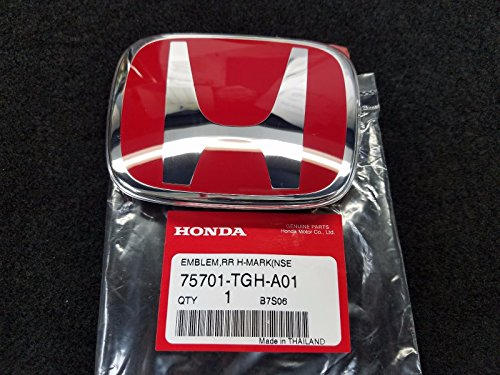 (GENUINE OEM 75701TGHA01 TYPE R RED REAR EMBLEM BADGE FOR HONDA CIVIC 2017-2019)