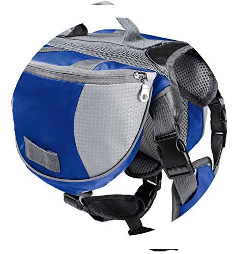 better-caress pet Large Dog Bag Carrier Backpack Saddle Bags Dog Travel Large Capacity Bag Carriers for Dogs,Blue,L ()
