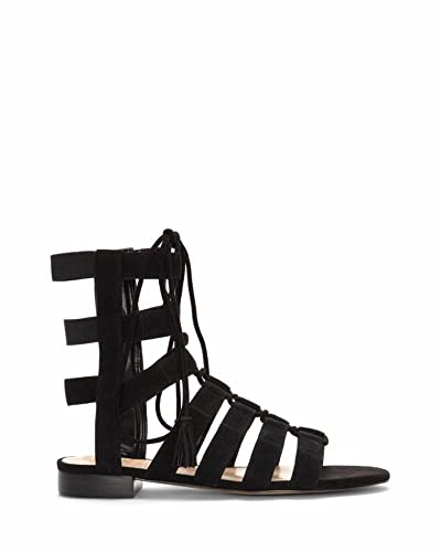 75b581cd366 Vince Camuto Helayn Womens Black Suede Open Toe Ghillie Sandals Size 6