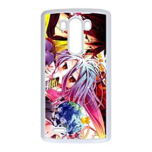 LG G3 Cell Phone Case White No Game No Life HLA Phone Case Back DIY